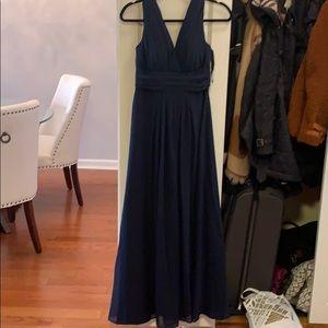 Bill Levkoff Navy Blue Bridesmaids Dress